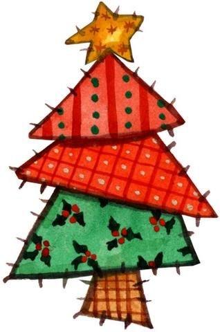 Arboles infantiles de navidad para imprimir - Arbol de navidad infantil ...