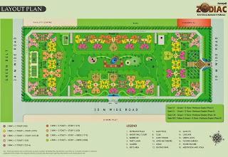 Amrapali Zodiac :: Site Plan