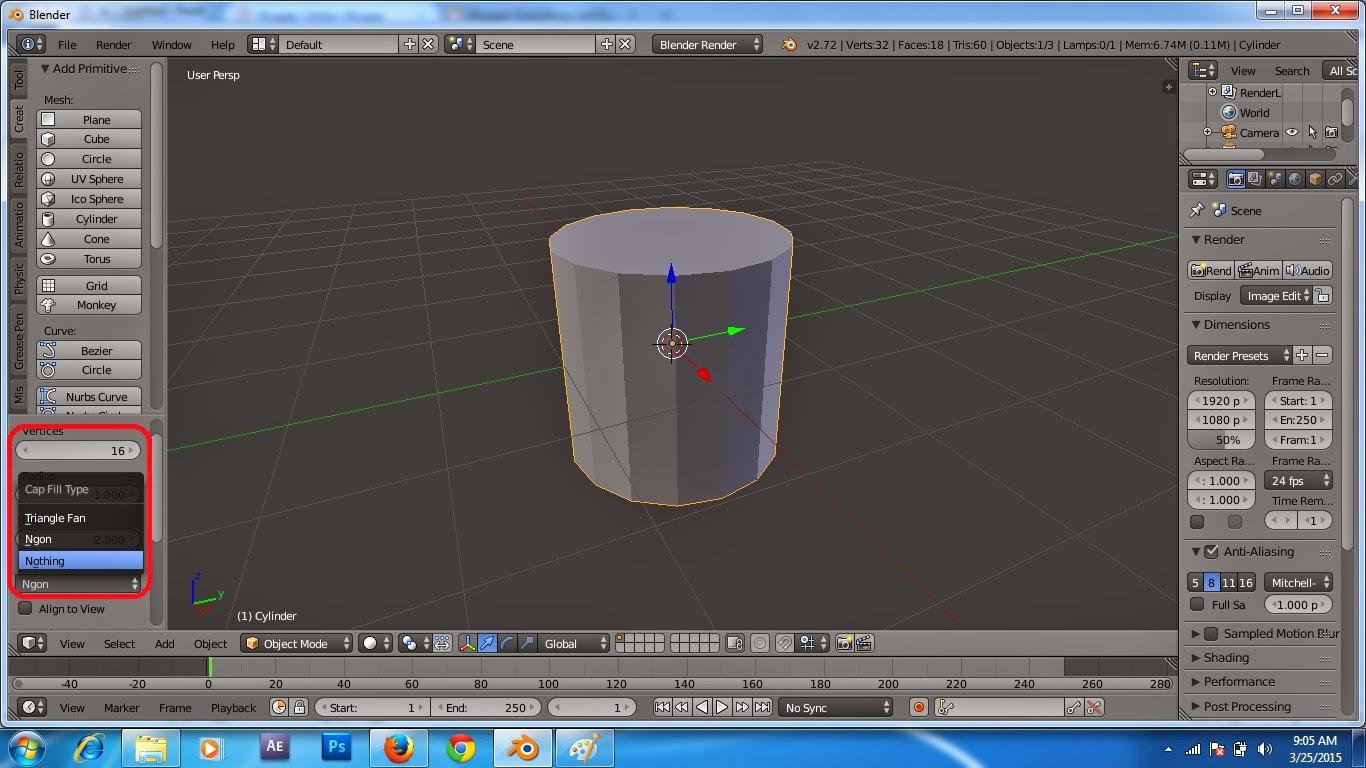 ... | Tutorial Desain Grafis: Tutorial Cara Membuat Gelas di Blender