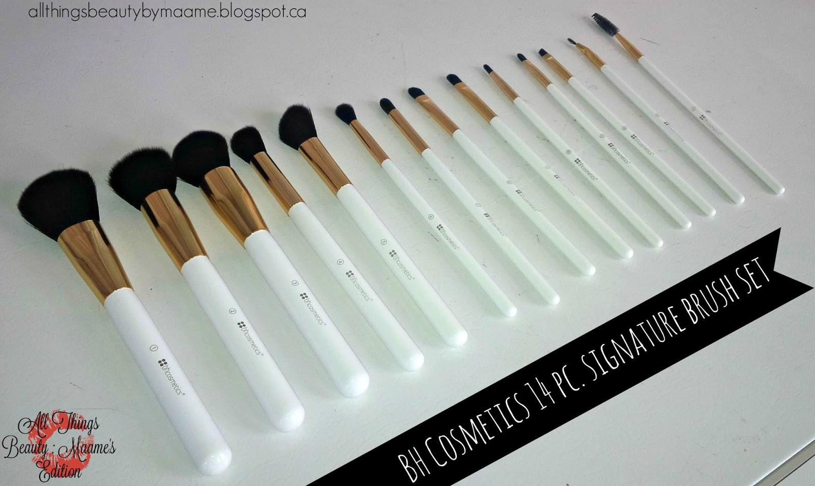 bh cosmetics eye brushes. budget beauty| bh cosmetics 14 pc. signature gold brush set bh eye brushes r