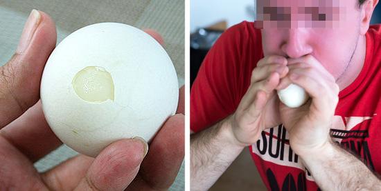 Descascando alimentos facilmente - Ovo