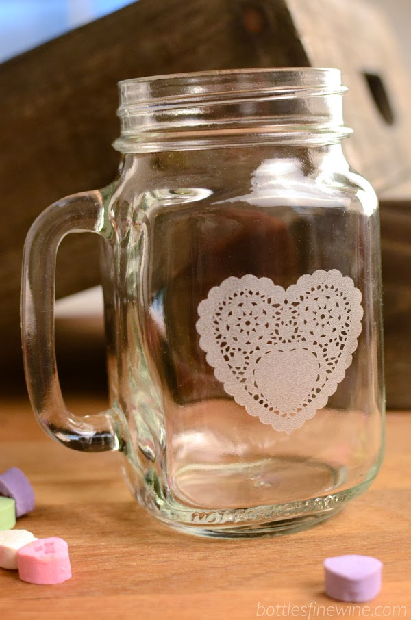 Mason Jar Mug for Valentine's Day Gift