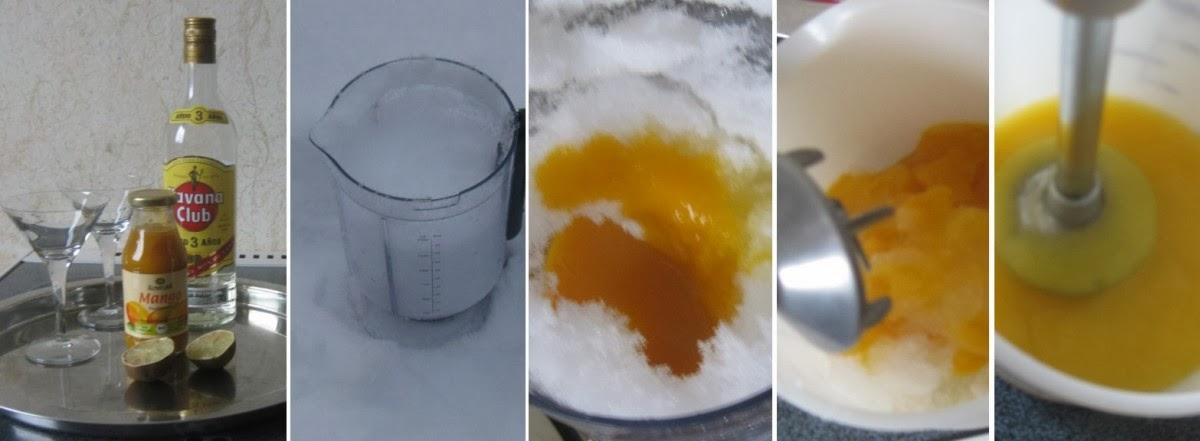 Zubereitung Frozen Mango Daiquiri