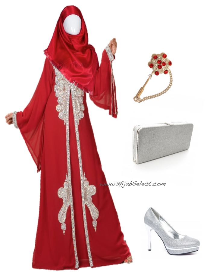 Tenue hijab soirée