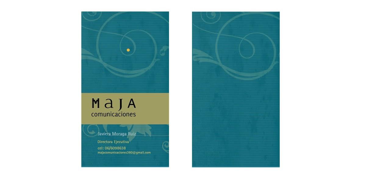 tarjetas para MAJA Comunicaciones - 2011