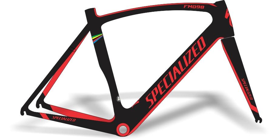 Armario Capsula Masculino ~ Stickers Design Adesivo bike Specialized FM098