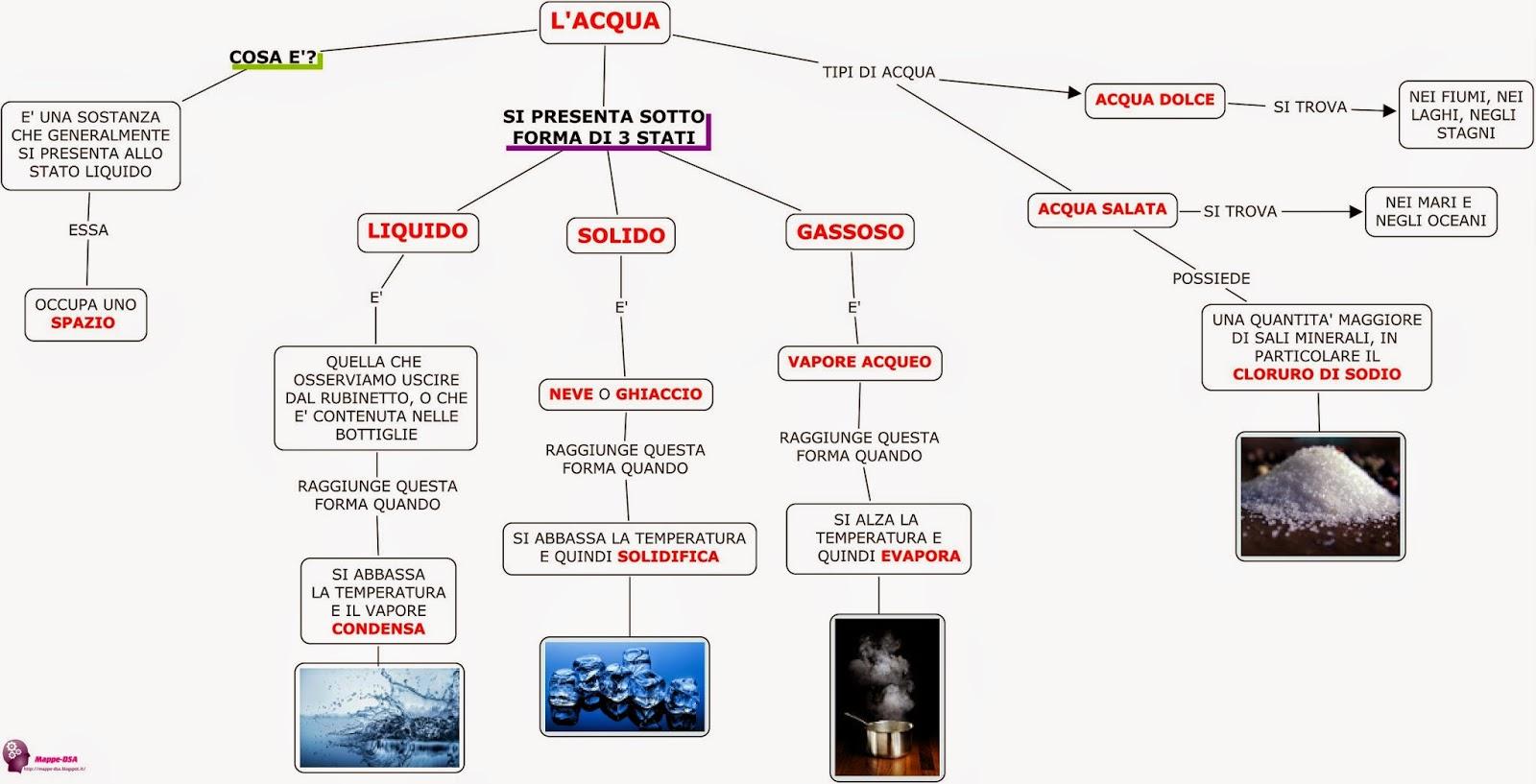 mappa dsa scienze acqua