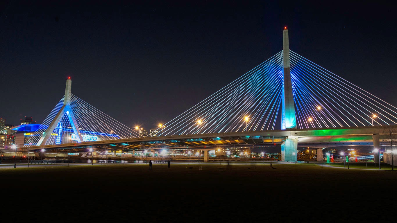 Leonard P. Zakim Bunker Hill Bridge, Boston, Massachusetts (© Rick Friedman/Corbis) 255