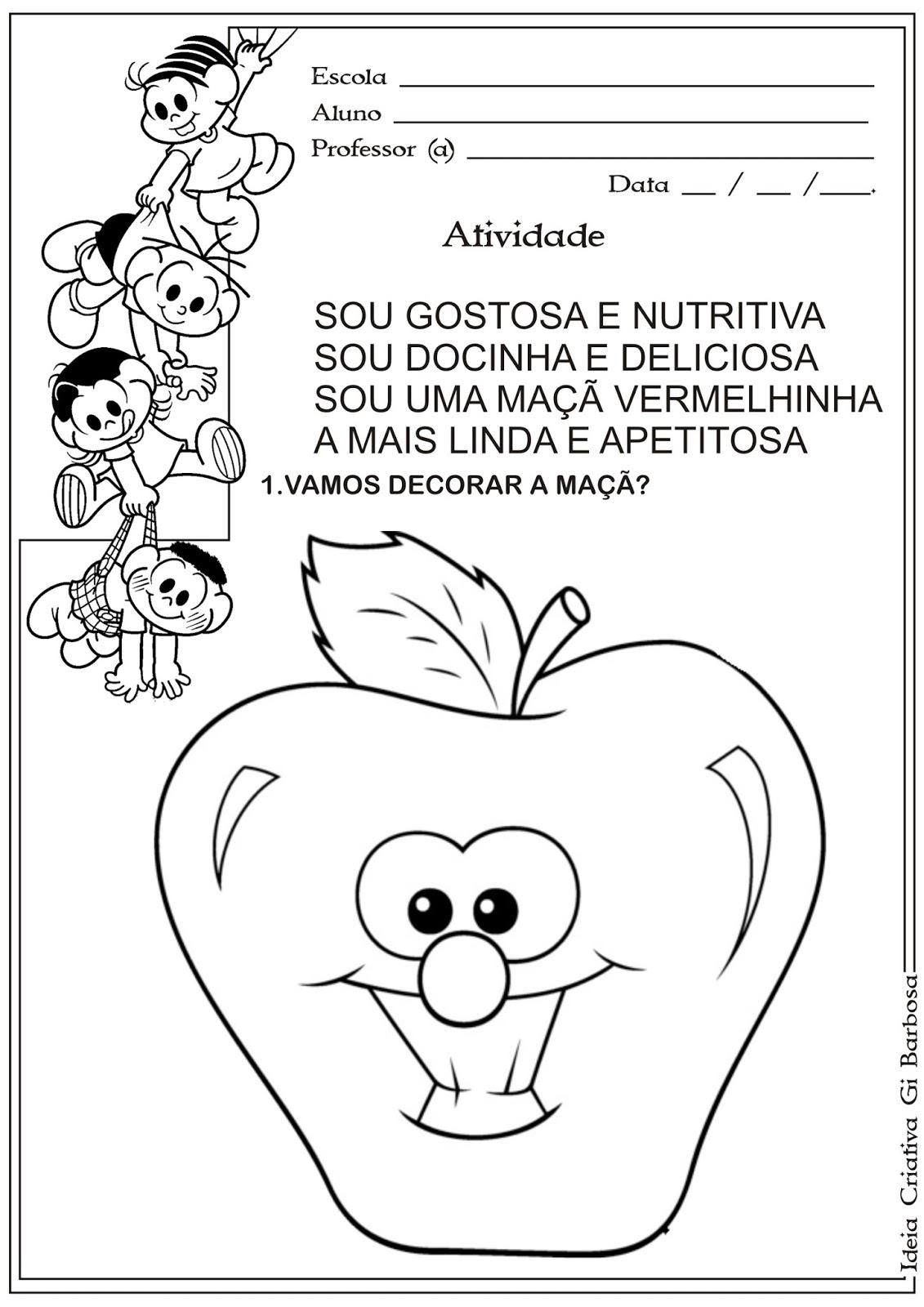 Muito Atividade Artes Maternalzinho Alimentação Saudável | Ideia  IS69