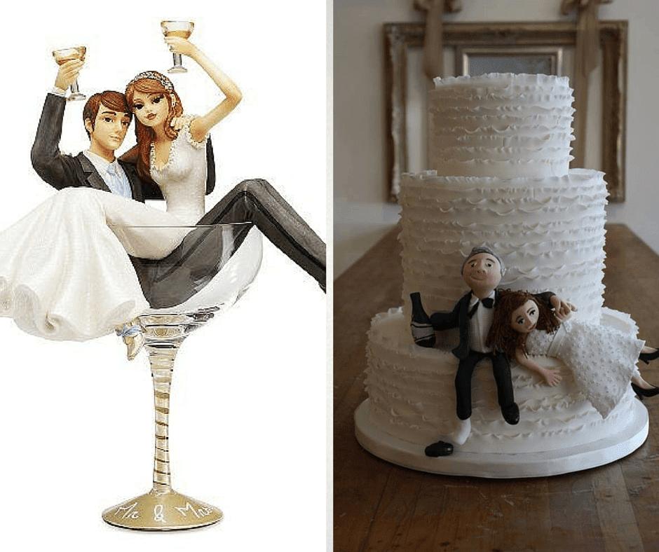 смешни фигурки младоженци за сватбени торти