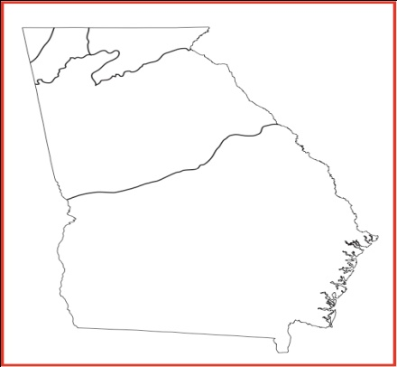 Georgia Studies Study Guide - Georgia map label