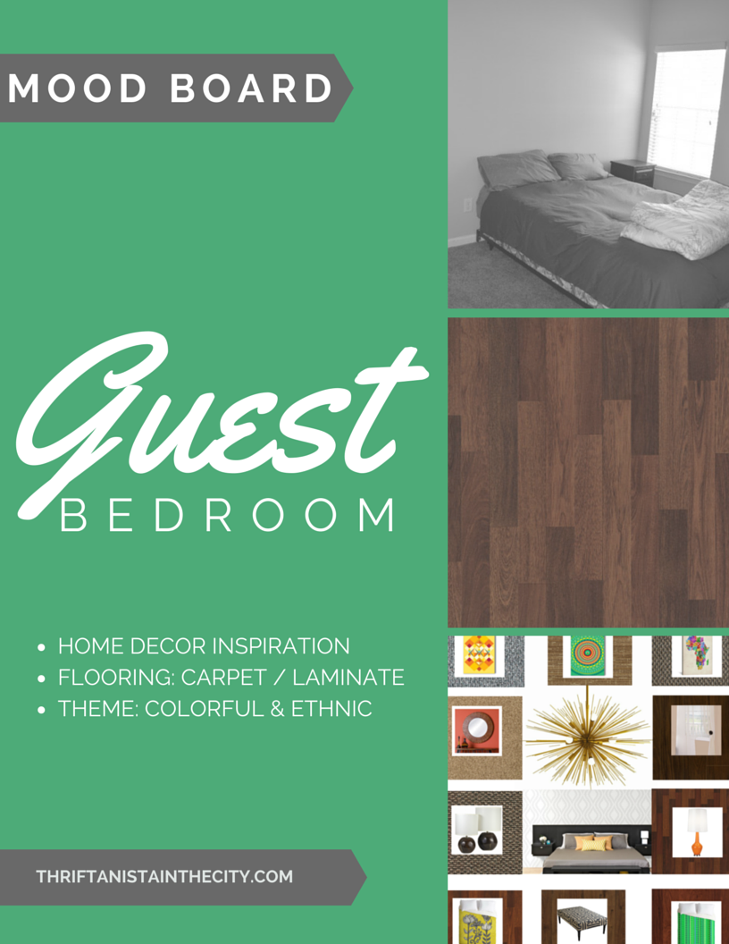 guest bedroom mood board #shop