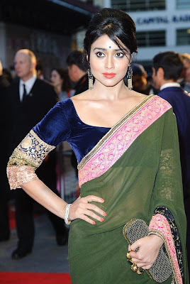 actress Shriya Saran in designer saree