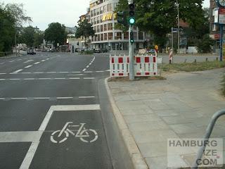 Schutzstreifen Hofweg / Winterhuder Weg