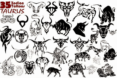 taurus zodiac tattoo designs