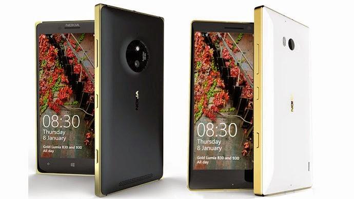 Gold Lumia 830 and Lumia 930