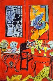 Imagen de Gran interior rojo de Matisse. Entrada explicando las composiciones equilibradas, armónicas utilizando los tres colores primarios. Ejemplos de obras de Vermeer, Picasso, Miró y Mondrian. Ensayo escrito por Juan Sánchez Sotelo para la Academia de dibujo y pintura Artistas6 de Madrid. Clases y cursos para aprender a dibujar y pintar