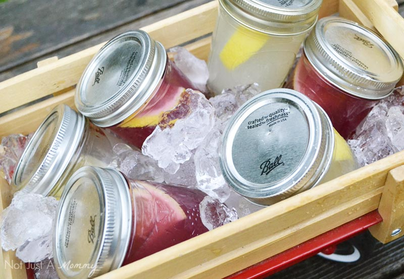 Mason jar cocktails; Slammin' Lemonade and Slammin' Blueberry Lemonade