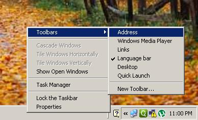 Add URL Address Bar to Taskbar