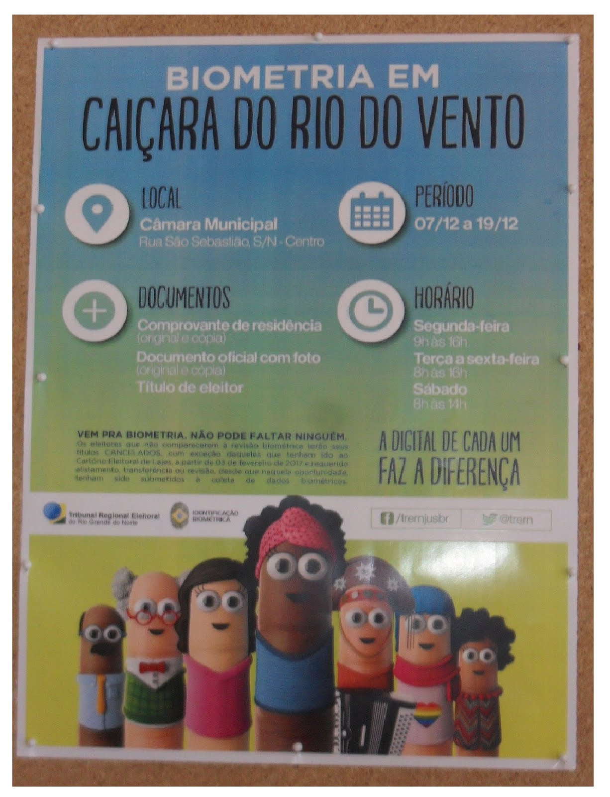 BIOMÉTRIA EM CAIÇARA DO RIO DO VENTO