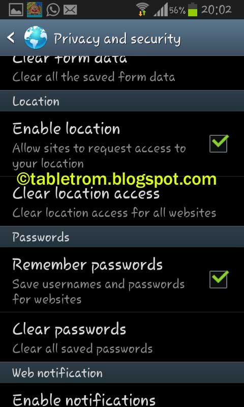 tutorial to clear browsing history