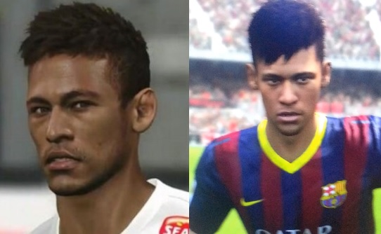 FIFA 14 vs PES 2014 Faces