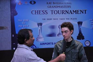 Echecs à New Delhi : Fabiano Caruana (2714) interviewé par K. Swamy © site officiel
