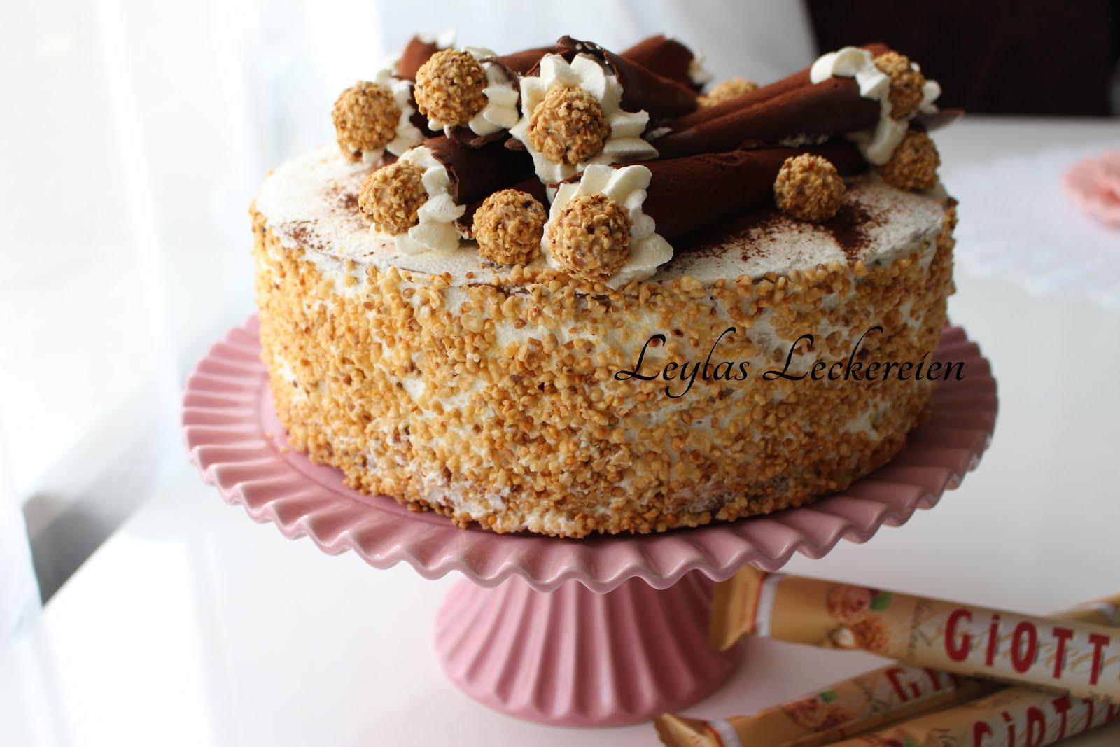 leylas leckereien giotto torte nuss torte die beste nuss torte der welt. Black Bedroom Furniture Sets. Home Design Ideas