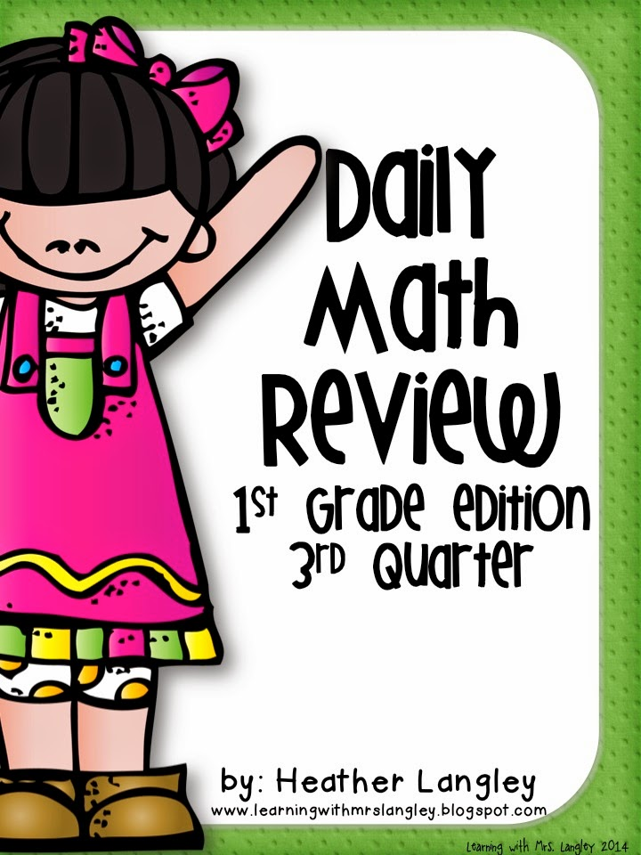 http://www.teacherspayteachers.com/Product/Daily-Math-Review-1st-Grade-Quarter-3-1259099