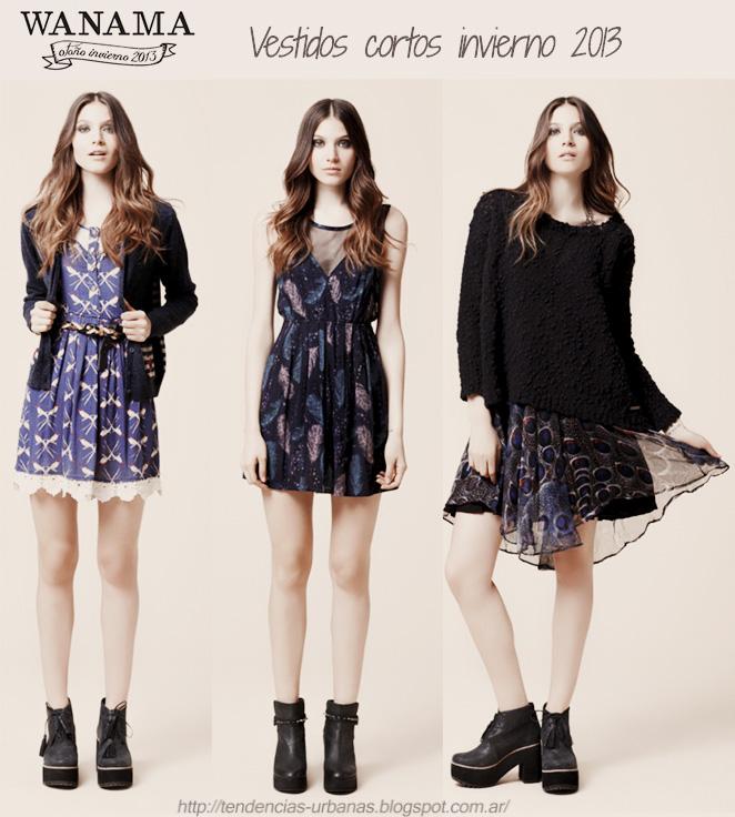 Vestidos cortos Wanama invierno 2013