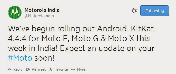 Android Kitkat 4.4.4 Upgrade Available for Moto E, Moto X and Moto G