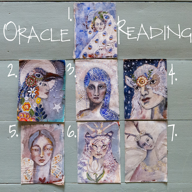 Oracle Readings, mixed media, Galia Alena