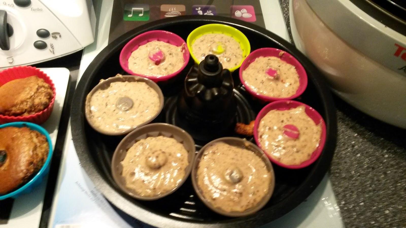 Drea S Tm Und Actifry Rezepte Welt Muffins Mit Schokolade Aus Dem