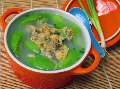 Cách nấu Canh ngao mướp hương ngon