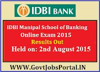 IDBI Manipal Result 2015