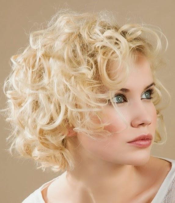 Mujer estilo y belleza pelo corto ondulado 2013 2014 - Peinados cortos y rizados ...