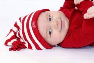 Christmas Xmas Baby in red