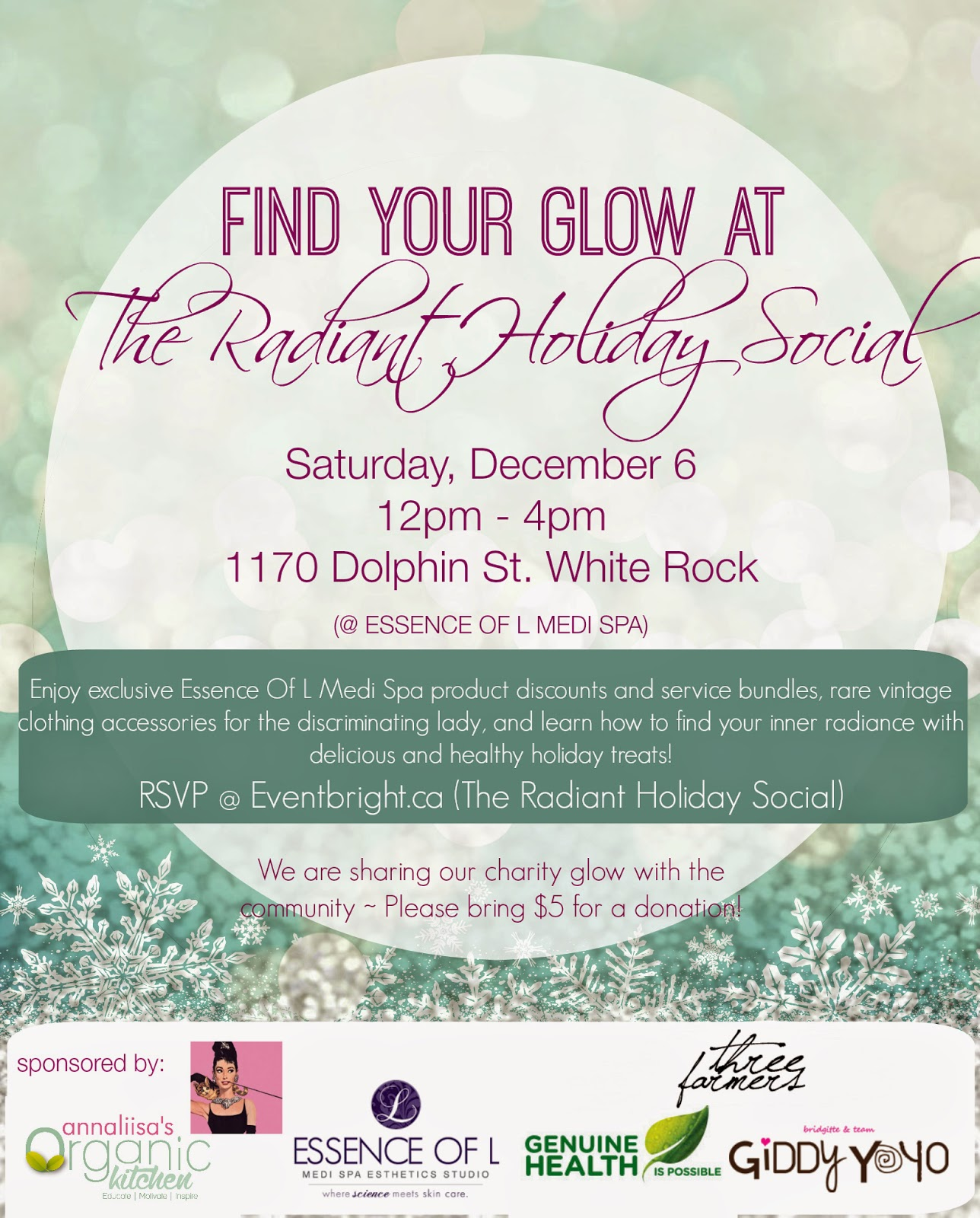 Event news: The Radiant Holiday Social in White Rock, South Surrey