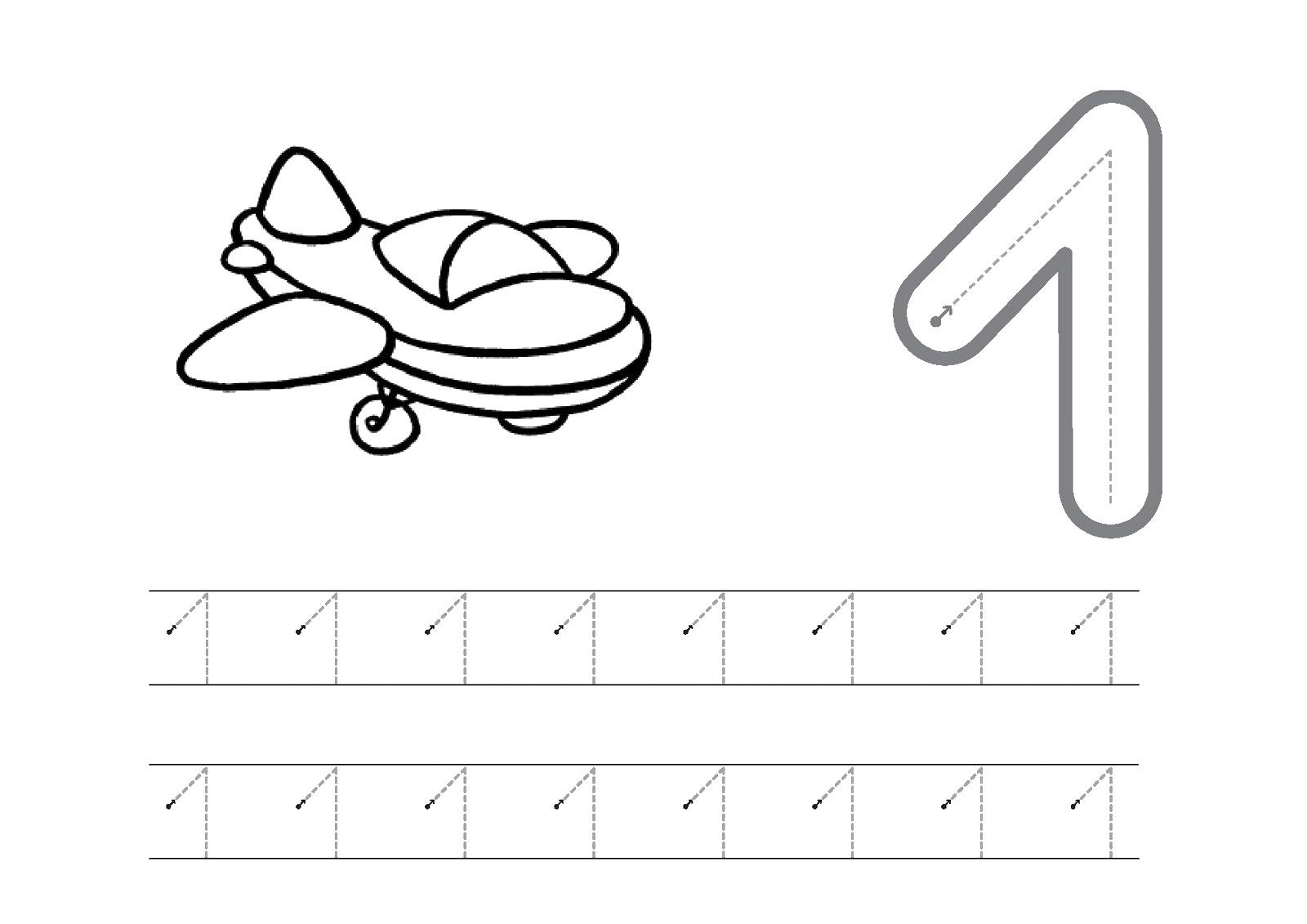 Trabajando en Educación Infantil: 10 fichas del número 1
