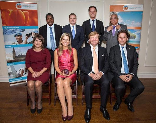 King Willem-Alexander and Queen Maxima met with the prime ministers of Aruba, Curacao and St. Maarten