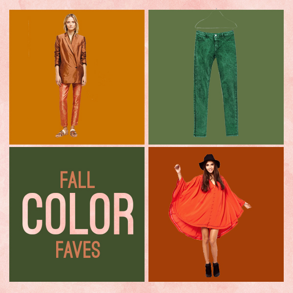 trending fall colors - burnt sienna & olive