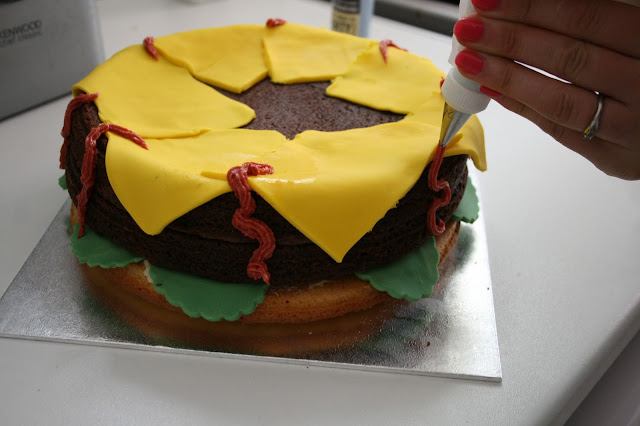 Hamburger Birthday Cake by What Laura did Next
