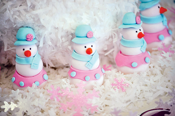 Chloe bleu glam snow girls themed birthday