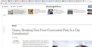 New York Times Dedicates Long Article to Tirana