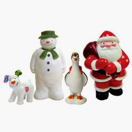 The Snowman and Snowdog Cake Top Characters