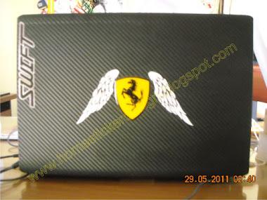 Hasil pengerjaan untuk cover laptop