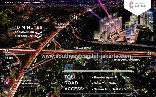 Lokasi Southeast Capital Jakarta Dekat Pintu Toll