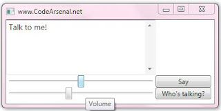 Speech Synthesizer in WPF