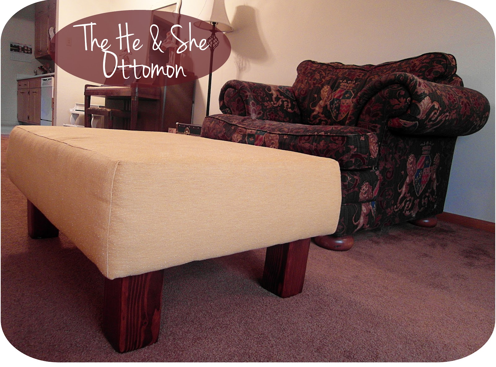 an ottoman made by he and she sisters what