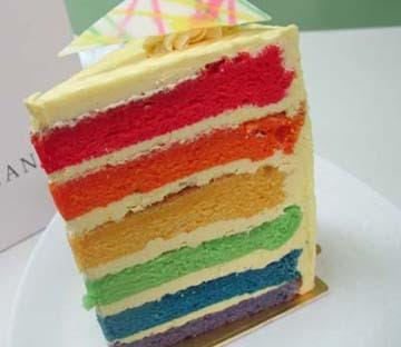 Resep Rahasia : Rainbow Cake With Citroen & Vanilla Icing